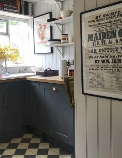 Dark Grey Painted Kitchen