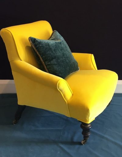 Yellow Velvet Dedar Chair